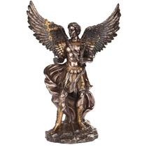 Escultura De Arcangel Gabriel De 1 Metro En Acabado Bronce