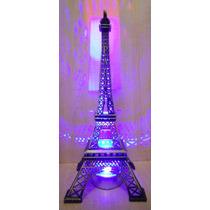 Torre Eiffel Metal !!!! 32 Cm Grabado Paris Caja De Regalo