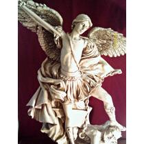 Arcangel San Miguel Resina Patinado Antiguo Bello Regalo