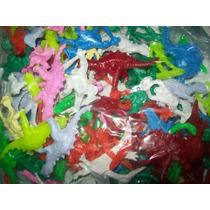 Gcg 1 Lote Dinosaurios De Plastico 100 Pzas Op4
