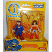 Juguetibox: Imaginext Superman Y Mujer Maravilla Dc Superfri