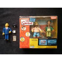 Los Simpsons Kwik E Mart Diorama, Apu, El Abuelo Y Chalmers