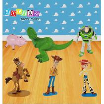 Set De 6 Figuras Toy Story Woody Buzz Rex Jessie Jam Y Tiro