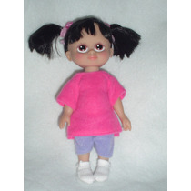 Boo De Monsters Inc 22 Cms Con Cabello Hermoso Y Su Pijama