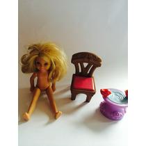 3 Piezas Muñeca Silla Pajaritos Disney Barbie