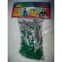 Gcg 1 Bolsa De Soldados Soldaditos Plastico Verde Y Gris
