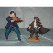 2 Figuras De Piratas Del Caribe. Davi Jones Y Jack Sparrow