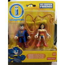 Imaginext Dc Superfriends Superman Y Mujer Maravilla