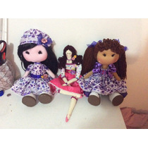 Muñecas De Tela Preciosas