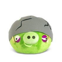 Angry Birds Cerdito Con Casco 16 Cm Peluche