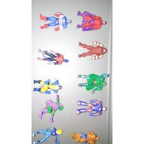 Bolsa Con 100 Mini Figuras De Superheroes Marvel-dc