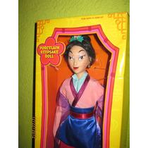 Hermosa Princesa Mulan Edicion Limitada Disney Porcelana