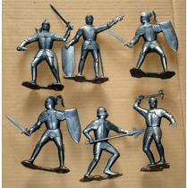 Marx Plastimarx Colección 15cm Caballeros Medievales 6pz Vbf
