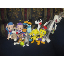 Looney Toons Lote De 10 Peluches Silvestre, Piolin, Luccas