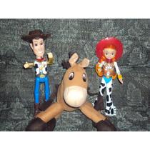 Lote 3 Figuras Tiro Al Blanco Jessy Y Woody De Toy Story Luz
