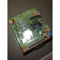 Minecraft - Spider Jockey Pack Series 2, No Steve, Enderman