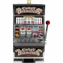 Alcancia Crazy Diamonds Slot Machine Bank