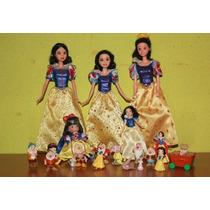 Princesa Blanca Nieves Y Lote De Enanos Figuras