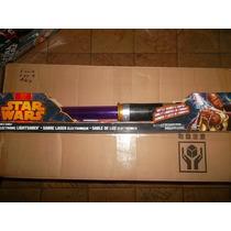 Mace Windu Ligthsaber Sable Laser Star Wars Luz Y Sonido