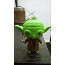 Llavero Mini Yoda Luz Led Sonido- Stormtrooper Vader Tambien