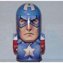 Avengers Capitan America Contenedor Metalico