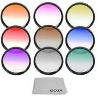 Kit De 9 Filtros De Colores 52mm Para Camara Nikon Nuevo Hm4