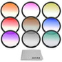 Kit De 9 Filtros De Colores 52mm Para Camara Nikon Nuevo Op4