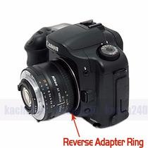 Anillo Inversor Macro Para Canon Ef 52mm Adaptador Aro Eos