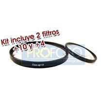 Kit De Lentillas De Aumento Macro / Closeup Filtro +10 Y +4