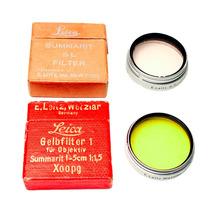 Lote Filtros Leica Amarillo Gelbfilter Skylight Summarit