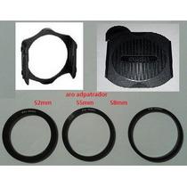 3 Pack Cokin Porta Filtro Aro Tapa Lente Camara Zoom Nikon