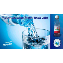 Agua Purificada Personalizada De 300ml En Paquete De 24pzas