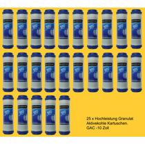 25 Piezas Filtros Carbon Activado Granulado 2.5x10