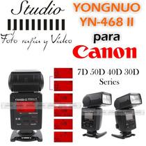 Flash Yongnuo Yn-468 Il Para Canon 7d 50d 40d 30d Seri