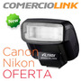 Flash Compatible Con Canon Y Nikon Speedlite 610