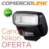 Flash Compatible Con Canon Y Nikon Speedlite 610