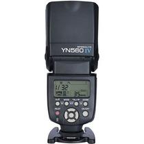 Flash Speedlite Yn560iv Ver.4 Receptor Integrado Nikon Canon