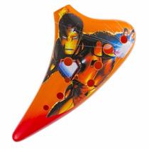 Ocarina Tenor 12 Orificios Plastico Iron Man