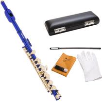 Flautin Piccolo Mendini Azul Orificio Cerrado Hm4