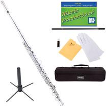 Flauta Mendini En Cecilio Color Plata Sintonizador