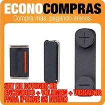 Set De Botones Laterales Para Iphone 5s Negro 100% Nuevo!!!!