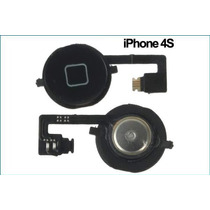 Flex Boton Home Iphone 4s Negro Vikingotek