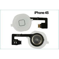 Flex Boton Home Iphone 4s Blanco Vikingotek