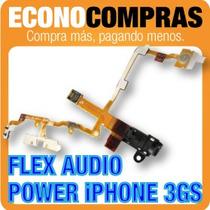 Flex De Audio Y Botón De Encendido Para Iphone 3gs Nuevo!!!!