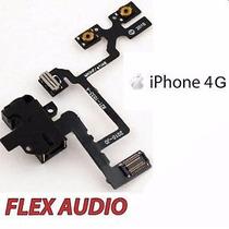 Flex Jack De Audio Volumen Vibrador Para Iphone 4 Negro