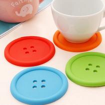 B 4 Portavasos En Forma De Botón, Silicón, Colores