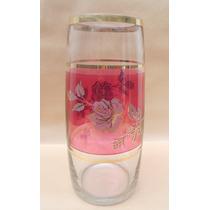 Florero De Cristal Con Motivos Florales