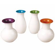 Juego De Floreros De Ceramica 4 Piezas - Crown Baccara