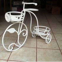Macetero Triciclo Herreria Casa-jardin -decoracion Mesas-