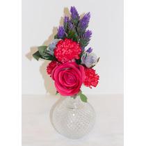 Arreglo De Flores Artificiales Decorativo - Licorera